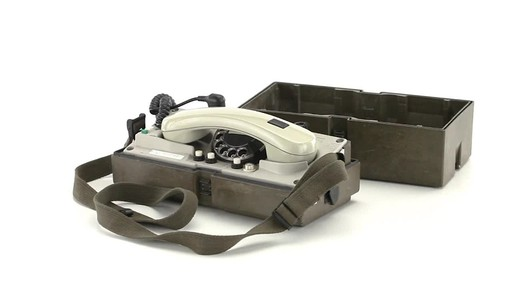 German Military Surplus Field Phone Used 360 View - image 2 from the video