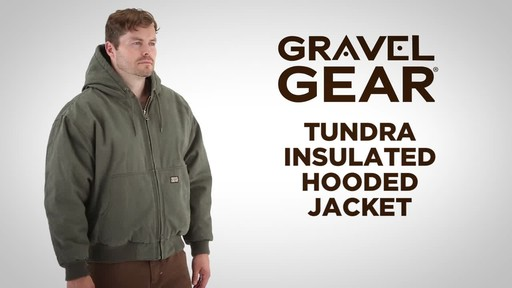 Gravel Gear Men's Tundra Insulated Hooded Jacket - image 1 from the video