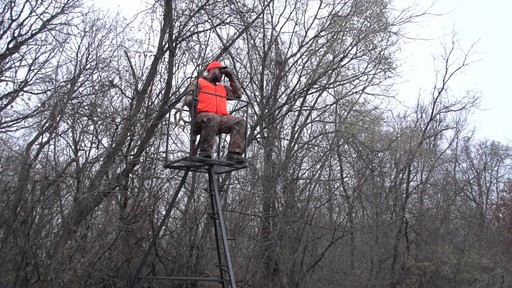 Guide Gear 13' Deluxe Tripod Deer Stand - image 10 from the video