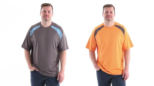Guide Gear Men's Performance Fishing Short Sleeve T-Shirt 360 View - image 10 from the video