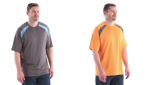 Guide Gear Men's Performance Fishing Short Sleeve T-Shirt 360 View - image 2 from the video