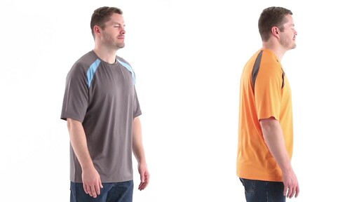 Guide Gear Men's Performance Fishing Short Sleeve T-Shirt 360 View - image 3 from the video
