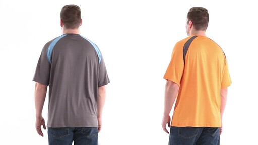 Guide Gear Men's Performance Fishing Short Sleeve T-Shirt 360 View - image 6 from the video