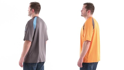 Guide Gear Men's Performance Fishing Short Sleeve T-Shirt 360 View - image 7 from the video