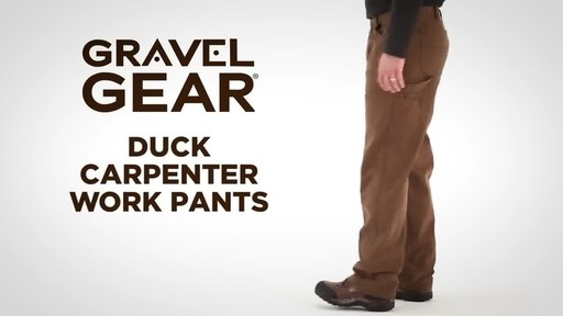 Gravel Gear Men's Duck Carpenter Work Pants - image 2 from the video