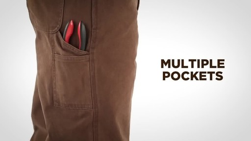 Gravel Gear Men's Duck Carpenter Work Pants - image 4 from the video