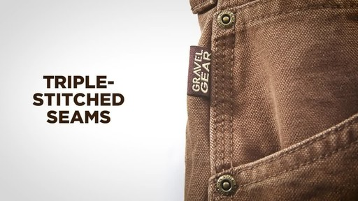 Gravel Gear Men's Duck Carpenter Work Pants - image 5 from the video