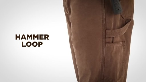 Gravel Gear Men's Duck Carpenter Work Pants - image 6 from the video