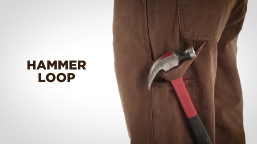 Gravel Gear Men's Duck Carpenter Work Pants - image 7 from the video