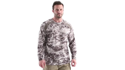 Guide Gear Men's Performance Fishing Long Sleeve Shirt Mossy Oak Elements Agua 360 View - image 1 from the video