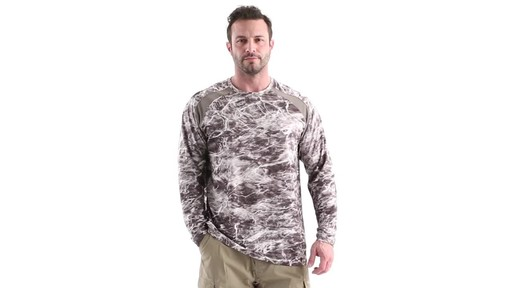 Guide Gear Men's Performance Fishing Long Sleeve Shirt Mossy Oak Elements Agua 360 View - image 10 from the video