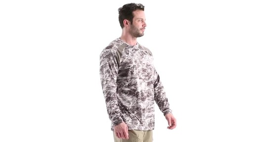 Guide Gear Men's Performance Fishing Long Sleeve Shirt Mossy Oak Elements Agua 360 View - image 2 from the video