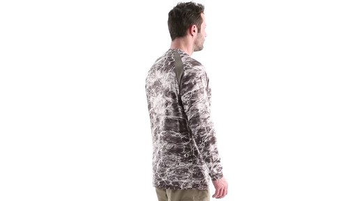 Guide Gear Men's Performance Fishing Long Sleeve Shirt Mossy Oak Elements Agua 360 View - image 3 from the video