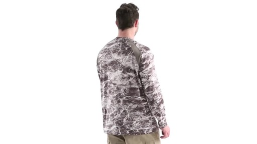 Guide Gear Men's Performance Fishing Long Sleeve Shirt Mossy Oak Elements Agua 360 View - image 4 from the video