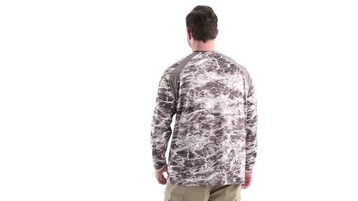Guide Gear Men's Performance Fishing Long Sleeve Shirt Mossy Oak Elements Agua 360 View - image 5 from the video