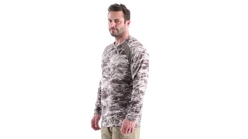 Guide Gear Men's Performance Fishing Long Sleeve Shirt Mossy Oak Elements Agua 360 View - image 7 from the video