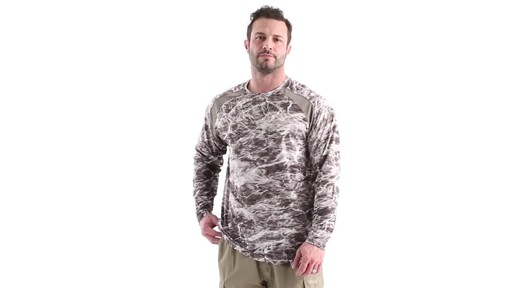 Guide Gear Men's Performance Fishing Long Sleeve Shirt Mossy Oak Elements Agua 360 View - image 8 from the video