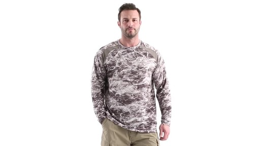 Guide Gear Men's Performance Fishing Long Sleeve Shirt Mossy Oak Elements Agua 360 View - image 9 from the video