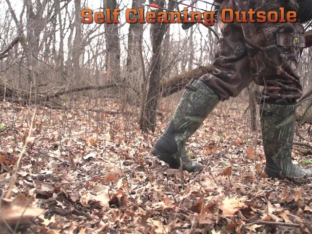 Men's Guide Gear® 800 gram Thinsulate™ Ultra Insulation Rubber / Neoprene Universal Hunting Boots Mossy Oak Infinity® - image 3 from the video