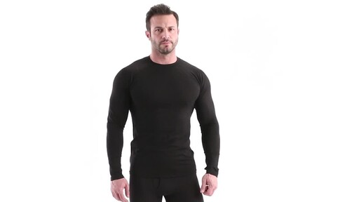 Guide Gear Men's Lightweight Base Layer Crew Top 360 View - image 1 from the video