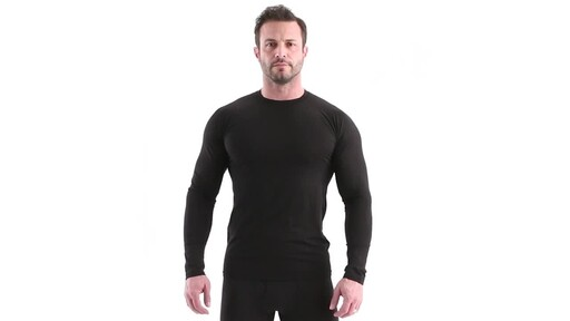 Guide Gear Men's Lightweight Base Layer Crew Top 360 View - image 10 from the video