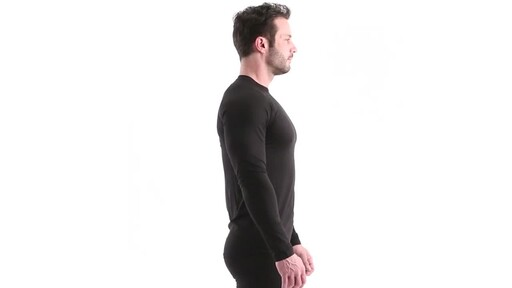Guide Gear Men's Lightweight Base Layer Crew Top 360 View - image 3 from the video