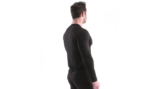 Guide Gear Men's Lightweight Base Layer Crew Top 360 View - image 4 from the video