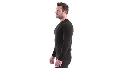 Guide Gear Men's Lightweight Base Layer Crew Top 360 View - image 8 from the video
