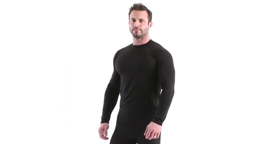 Guide Gear Men's Lightweight Base Layer Crew Top 360 View - image 9 from the video