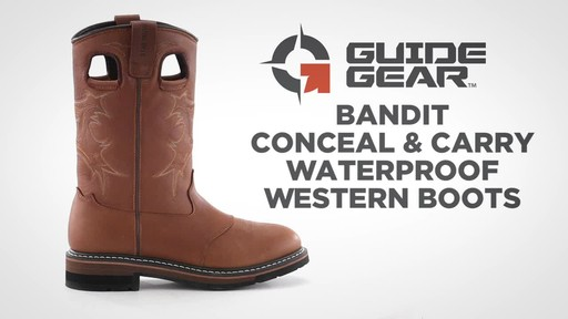 Guide Gear Men's Bandit Conceal and Carry Waterproof Western Boots - image 1 from the video