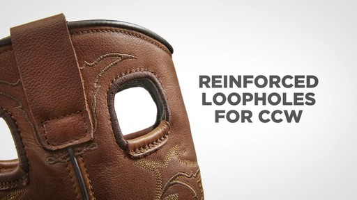 Guide Gear Men's Bandit Conceal and Carry Waterproof Western Boots - image 7 from the video