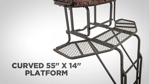 Guide Gear 2 Person 20' Double Rail Ladder Tree Stand With Hunting Blind - image 3 from the video