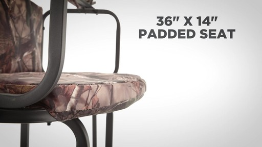 Guide Gear 2 Person 20' Double Rail Ladder Tree Stand With Hunting Blind - image 4 from the video