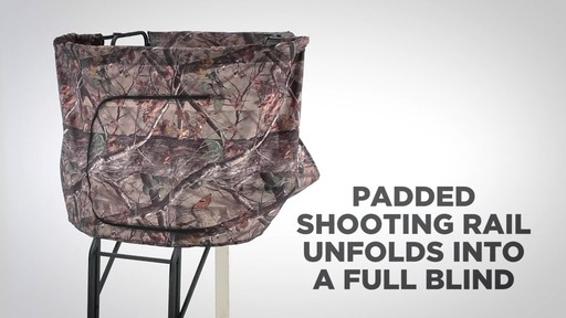 Guide Gear 2 Person 20' Double Rail Ladder Tree Stand With Hunting Blind - image 7 from the video
