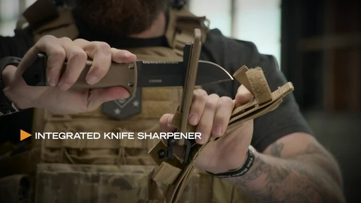 Gerber LMF II Infantry Fixed Blade Combat Knife Brown - image 9 from the video