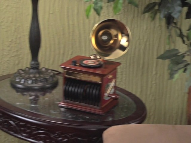226218 -Mr. Christmas® Tabletop Harmonique Gramophone - image 10 from the video