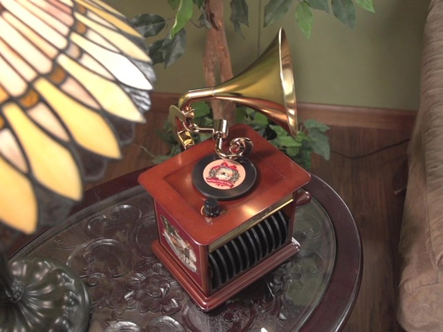226218 -Mr. Christmas® Tabletop Harmonique Gramophone - image 6 from the video