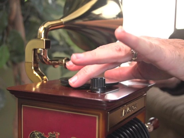 226218 -Mr. Christmas® Tabletop Harmonique Gramophone - image 7 from the video