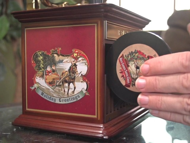 226218 -Mr. Christmas® Tabletop Harmonique Gramophone - image 8 from the video