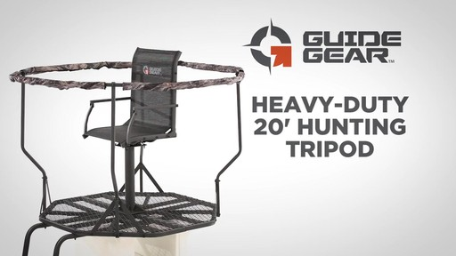 Guide Gear Heavy-Duty 20' Hunting Tripod - image 1 from the video