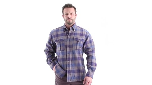 Guide Gear Men's Plaid Chamois Shirt 360 View - image 10 from the video