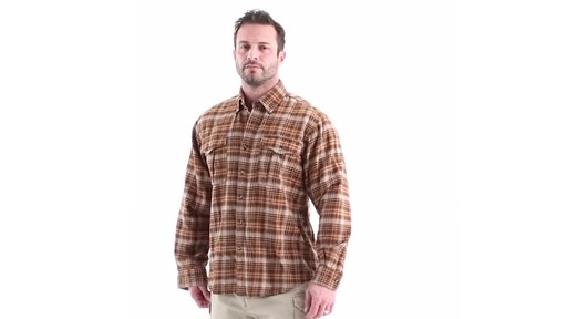 Guide Gear Men's Plaid Chamois Shirt 360 View - image 7 from the video