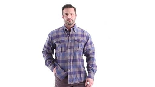 Guide Gear Men's Plaid Chamois Shirt 360 View - image 9 from the video