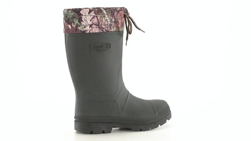 Kamik Men's Sportsman Rubber Boots Waterproof Insulated 360 View - image 10 from the video