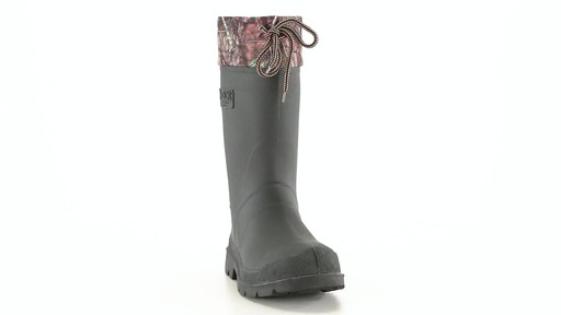 Kamik Men's Sportsman Rubber Boots Waterproof Insulated 360 View - image 2 from the video