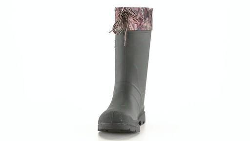 Kamik Men's Sportsman Rubber Boots Waterproof Insulated 360 View - image 3 from the video