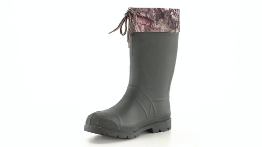 Kamik Men's Sportsman Rubber Boots Waterproof Insulated 360 View - image 4 from the video
