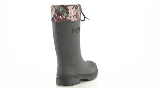 Kamik Men's Sportsman Rubber Boots Waterproof Insulated 360 View - image 9 from the video
