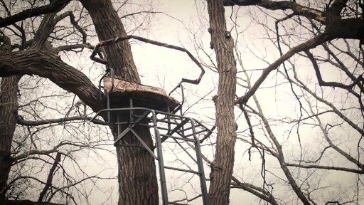 Guide Gear 20' Double Rail Ladder Tree Stand With Hunting Blind - image 10 from the video