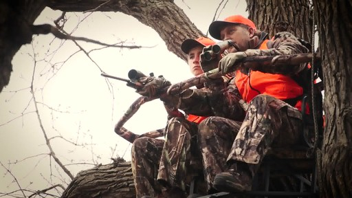 Guide Gear 20' Double Rail Ladder Tree Stand With Hunting Blind - image 2 from the video